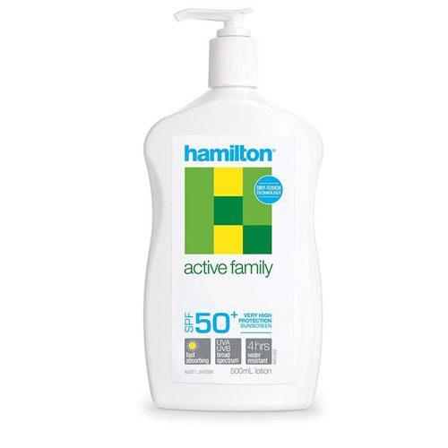 Hamilton Active Family Lotion 500mL