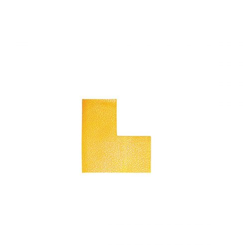 "DURABLE FLOOR MARKING SHAPE ""L"" YELLOW PACK 10"