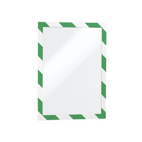DURABLE DURAFRAME SECURITY A4 GREEN & WHITE PACK 2