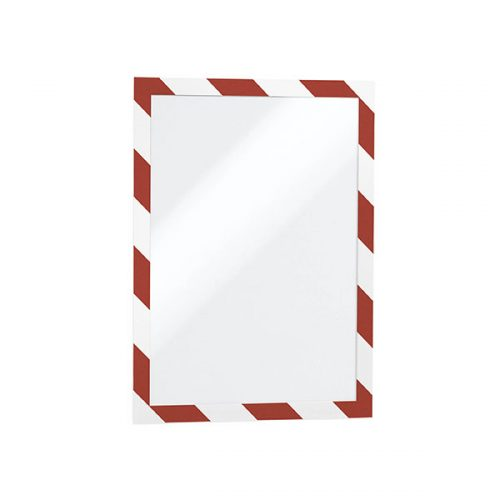 DURABLE DURAFRAME SECURITY A4 RED & WHITE PACK 2