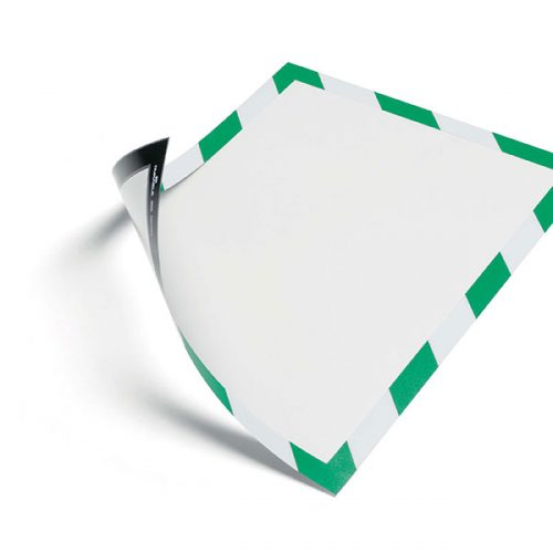 DURABLE DURAFRAME MAGNETIC SECURITY A4 GREEN & WHITE PACK 5